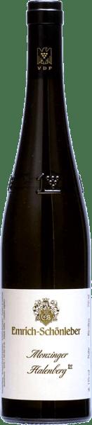 Veľká závod Riesling z Monzinger Halenberg od Emrich-Schönleber žiari zlatožltá v pohári.V pohári sa vyvinú úplne zrelé arómy šťavnatého žltého ovocia, ktoré dopĺňajú grapefruitové arómy. Na poschodí Halenberg GG od Schönleber môžete cítiť jemné, slané minerály a jasné presné kyslosť podčiarkuje celé telo. Výrazný ryzlink s viacvrstvovou arómou a elegantnou jemnosťou, ktorá sa s rastúcou zrelosťou stáva čoraz zložitejšou.
