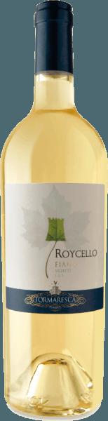 Roycello Fiano Salento IGT od Tormaresca iskrí v pohári slamenej žltej so zelenavými odrazmi, odhaľujúc svoju komplexnú a ovocnú kyticu. To lichotí nos s vôňou bielej broskyne a citrusových plodov, doplnené kvetinovými náznakmi jasmínu a jemné bylinné nuansy. Na poschodí začína toto južne talianske biele víno mäkké, po ktorom nasleduje osviežujúca a príjemná kyslosť. Vinifikácia pre Tormaresca Roycello Fiano Salento IGT Hrozno tejto odrody Fiano pochádza z vinohradov Tenuta Maìme v provincii Brindisi v Puglii. Hrozno sa zbieralo v optimálnom čase zrenia. Mušt bol uskladnený na chladnom mieste, aby sa dosiahlo prirodzené čírenie. Alkoholická fermentácia a starnutie sa potom vykonávajú 4 mesiace na jemných kvasinkách v nerezovej nádrži. Krátka doba dozrievania na fľaši dáva Roycellu jeho posledný dotyk. Odporúčanie jedla pre Roycello Fiano Salento od Tormaresca Vychutnajte si toto suché biele víno z Puglie ako aperitív alebo so sushi a kurčaťom. Ocenenia pre RoycelloFiano Salento IGT od Tormaresca Gambero Rosso: 2 poháre na 2016 James Suckling: 90 Body za rok 2015 Vini Buoni d 'Italia: 3 hviezdičky na rok 2014