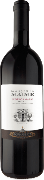 Masseria Maime Salento IGT z Tormaresca je jedným z najlepších vín vinárstva. Negroamaro Masseria Maime sa objavuje v pohári v intenzívnej rubínovej červeni, na nose kvetinová vôňa mŕtva ružami a fialkami, čerstvé tmavé ovocie, ako sú čierne čerešne, moruše, nasledujú pikantné tóny pripomínajúce aníz zo sladkého drievka, škorica a klinčeky. Na poschodí je toto nádherné červené víno z Puglie bohaté na ovocie, elegantné s vyváženými, mäkkými a zamatovými taninami. Povrchová úprava je dlhá, hustá a odolná. Vinifikácia Masseria Maime Salento IGT Tormaresca Pre tento čistý Negroamaro sa hrozno zbiera úplne zrelé ručne koncom septembra. Po lisovaní nasleduje macerácia a alkoholová fermentácia na škrupinách po dobu 15 dní pri kontrolovanej teplote 26 ° až 28° C. Šrupiny sa opakovane jemne prečerpávajú špeciálnou technikou, ktorá umožňuje veľmi jemnú a rovnomernú extrakciu farby, vôní a taninov. Po odstránení šupiek sa víno ihneď premiestni do francúzskych dubových bariér, kde prebieha malolaktické kvasenie a potom zrenie počas 12 mesiacov. Po plnení do fliaš víno dozrieva ďalších 18 mesiacov vo fľaši pred predajom. Odporúčanie jedla pre Tormaresca Masseria Maime Salento IGT Vychutnajte si toto jemné a ovocné červené víno z Puglie s typickými regionálnymi jedlami, orechiettou s chutnými mletými mäsovými omáčkami alebo tradičnou čakankou, grilovaným, červeným a tmavým mäsom, zrelými a korenenými syrmi. Ocenenia pre Masseria Maime Salento IGT Tormaresca Gambero Rosso: 2 červené okuliare na rok 20123; 3 okuliare na rok 2012 Bibenda: 5 hrozna na rok 2013, 4 hrozná na rok 2011 Falstaff: 90 bodov za rok 2013, 92 bodov za rok 2011 Vinársky nadšenec: 91 Body za rok 2012 Vínny Spectator: 90 Body za rok 2012 James Suckling: 90 Body za rok 2012 Wine Advocate Robert M.Parker: 90 Body za rok 2012; 92 Body za rok 2011 Veronelli Guide: 3 hviezdičky na roky 2012 a 2011 I Vini Buoni d 'Italia: 4 hviezdičky na roky 2012 a 2011 Luca Maroni: 90 Body za rok 2011