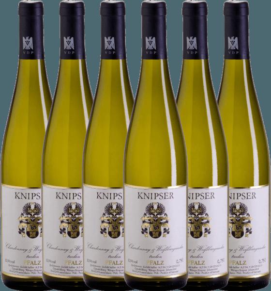 6er Vorteils-Weinpaket - Chardonnay & Weißburgunder 2020 - Knipser