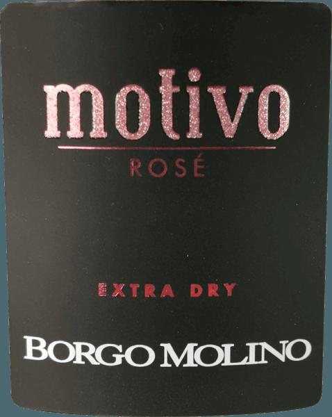 """Motivo Rosé extra suché od Borgo Molino je vynikajúci aperitív z Glera, Raboso a Pinot Nero. Táto čipka z Veneta poteší množstvom živého ovocia a nádherne ovocnou chuťou na poschodí! Motív Rosé od Borga Molina sa v pohári prezentuje jasne ružovou farbou. Jemné, dlhotrvajúce perlage spárované s ovocnou a intenzívnou kyticou pripomínajúcou maliny, jahody a ruže charakterizuje tento cuvée. Čerstvé, šťavnaté a živé v chuti, Motivo Rosé robí všetko správne, pokiaľ ide o chuť. Šumivé víno zo severného Talianska, ktoré okamžite inšpiruje a ktoré už svojím výnimočným tvarom fľaše hovorí: """"Prichádza niečo výnimočné!"""" Vinifikácia Borgo Molino Motivo Rosé Motivo Rosé vinifikuje Borgo Molino z odrôd hrozna Glera, Raboso a Pinot Nero (Pinot Noir). Hrozno rastie v regióne Marca Trevigiana a zbiera sa v čase optimálnej zrelosti. Odporúčania týkajúce sa potravín pre Borgo Molino Motivo Rosé Vychutnajte si toto výnimočné šumivé víno z Veneta ako aperitív alebo s aromatickými jedlami z morských plodov. Ocenenia pre Motivo Rosé IWSC 2017: Strieborné Luca Maroni 2017: 90 Body Mundus Vini 2013: Strieborná"""