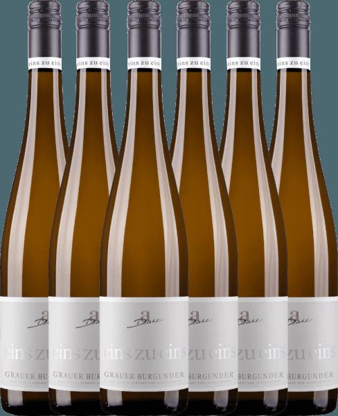 6er Vorteils-Weinpaket - Grauer Burgunder eins zu eins Kabinett 2020 - A. Diehl