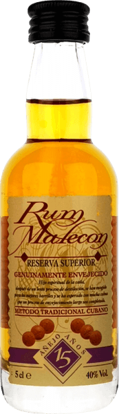 Reserva Superior 15 Jahre 0,05 l Miniatur - Rum Malecon
