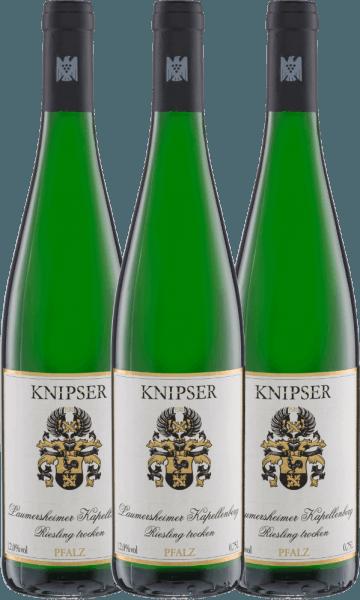 3er Vorteils-Weinpaket - Laumersheimer Kapellenberg Riesling 2020 - Knipser