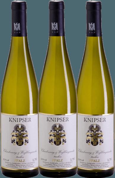 3er Vorteils-Weinpaket - Chardonnay & Weißburgunder 2020 - Knipser