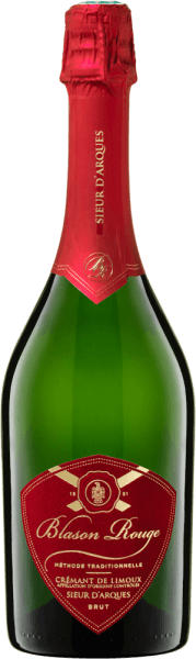 Blason Rouge Crémant Brut AOC - Sieur d'Arques