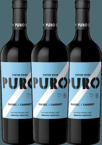 3er Vorteils-Weinpaket - Puro Malbec Cabernet 2019 - Dieter Meier