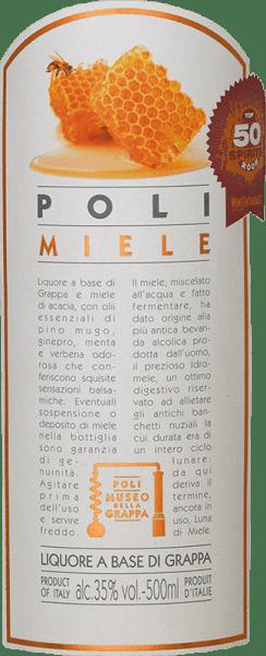 Poli Miele Museo della Grappa od Jacopo Poli je jemná, jemne sladká grappa destilovaná z výliskov rôznych odrôd hrozna z Benátska a ochutenámedom z kvetov akacie a esenciami rastlinného oleja. V pohári má táto grappa veľmi jasnú slamenú žltú s trblietavými odrazmi. Jemná kytica odhaľuje aromatické tóny borovicových, pomarančových a akačných kvetov a jemné náznaky jalovca. Na poschodí je táto ochutená marc brandy nádherne mäkká s jemnou sladkosťou, ktorá je dokonale sprevádzaná balzamickými arómami. Destilácia Jacopo Poli Miele Museo della Grappa Stále čerstvé výlisky rôznych odrôd hrozna z benátskeho apelácie Vicenza sa tradične destilujú v starých medených horákoch. Po procese pálenia má táto grappa stále 75% objemu. Pridaním destilovanej vody dosahuje táto brandy z výliskov obsah alkoholu 35 obj. %. Popridaní medu z kvetov akacie a jemných bylínspočíva táto grappa celkovo 3 mesiace v nádržiach z nehrdzavejúcej ocele a potom sa nakoniec jemne prefiltruje do fľaše. Odporúčaniepre Poli Miele Museo della Grappa Jacopo Poli Táto talianska brandy z výliskov sa perfektne hodí k dezertom vyrobeným z cesta alebo môže slúžiť ako pekný koniec lahodného menu. Vychutnajte si túto grappu pri teplote 10 až 15 stupňov Celzia.