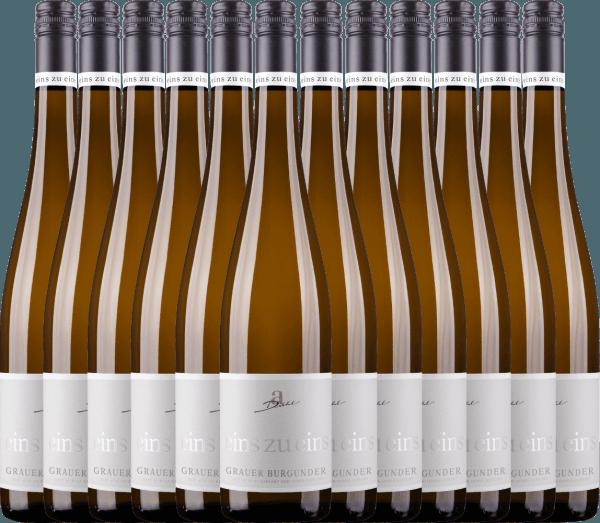 12er Vorteils-Weinpaket - Grauer Burgunder eins zu eins Kabinett 2020 - A. Diehl