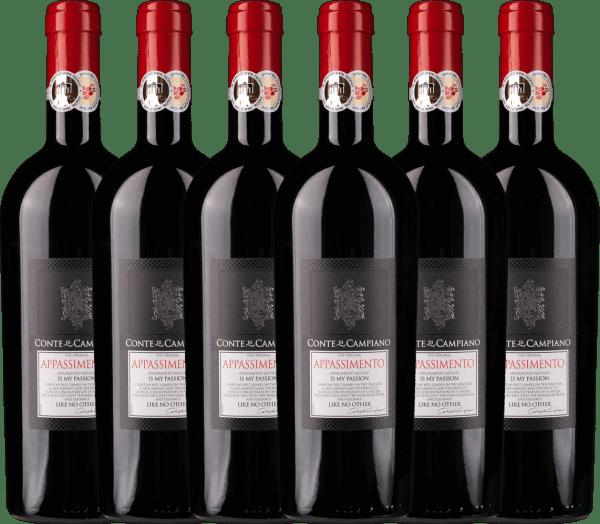 6er Vorteils-Weinpaket - Appassimento 2017 - Conte di Campiano