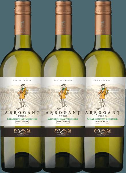 3er Vorteils-Weinpaket - Ribet Blanc Chardonnay Viognier 2019 - Arrogant Frog